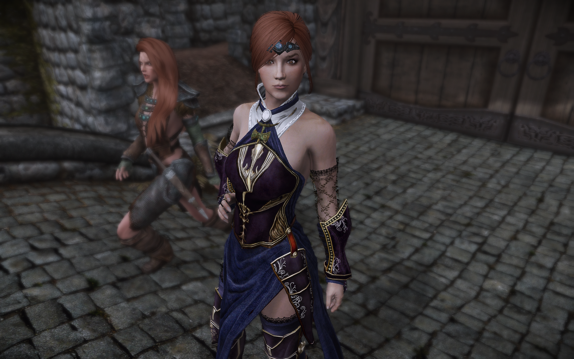 Shanoa Armor CBBE port with Changes at Skyrim Special