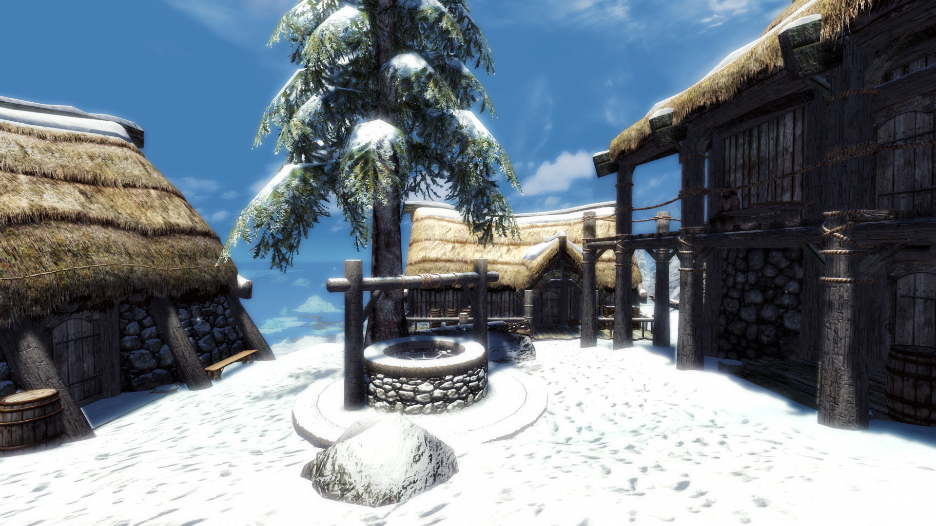 Whistling Mine No Snow Under The Roof At Skyrim Special