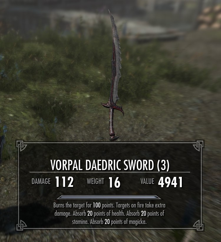Vorpal Sword Spell at Skyrim Special Edition Nexus - Mods