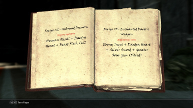 Atronach Forge Recipe Book