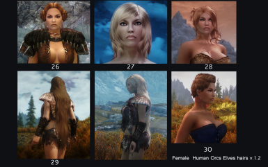 Hair chart Female hairs v_1_2