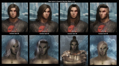 New Human and Elf hairs added in ApachiiSkyHair Male v_1_2