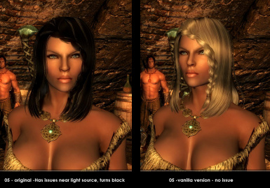 Hair 05 comparison vanilla vs black bug fix