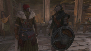 Kharjo is happy with his new armor