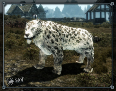 Snowy Panther Texture