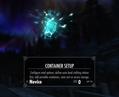 container setup spell