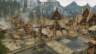 Whiterun view from Dragonsreach