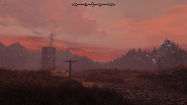 Sunset at Whiterun outskirts