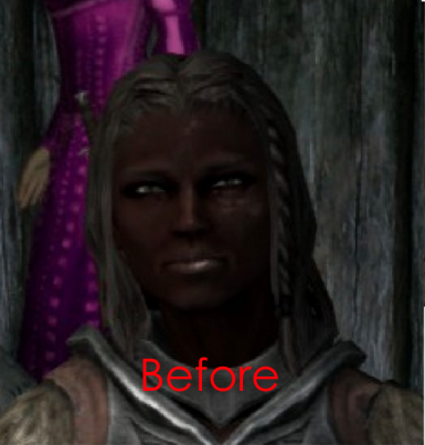 Dark Face Fix at Skyrim Special Edition Nexus - Mods and