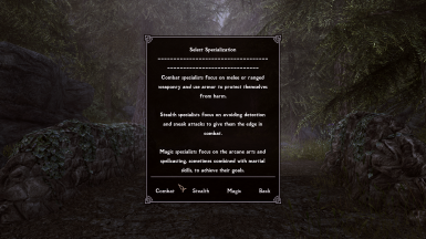 Classic Classes and Birthsigns SSE