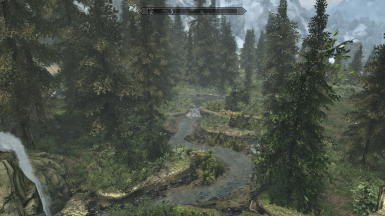 Near Whiterun with my grass mod