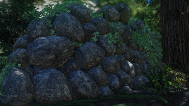 3D Stone Walls with Ivy
