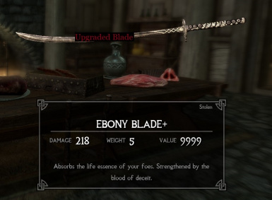 How to get ebony blade