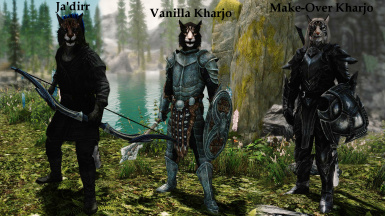 Badass Kharjo and a Khajiit Archer Follower SE