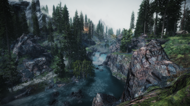 Mythical ages - Ralistic Water 2 watercolor - Majestic Mountains - Skyrim 3D Trees - Viscous Foliage