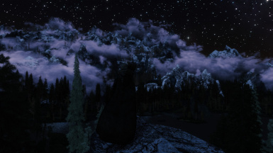 Majestic Mountains, Obsidian weather, Intrigued enb plus 600 mods