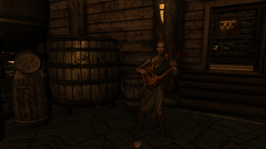 The Bard singing at the Meadhall
