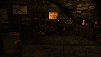 An Alchemist themed room available for one of your followers in the Meadhall's basement