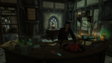 The Spell Merchant inside the Temple of Jhunal