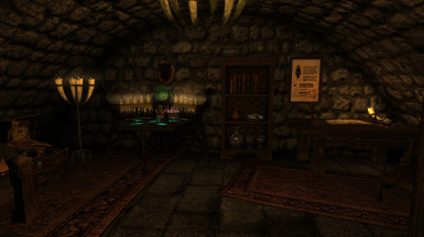 A Mage themed room available for one of your followers in the Meadhall's basement