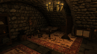 An Warrior themed room available for one of your followers in the Mead Hall's basement