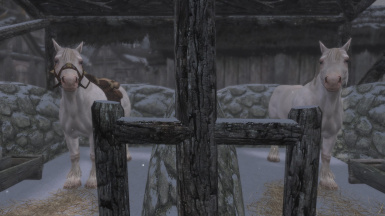 Horses with Realistic Horse Breeds - White Frost mod installed