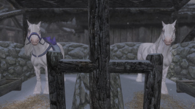 Horses with Swift Steeds Frost mod installed
