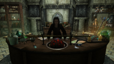 The Spell Merchant at the Temple