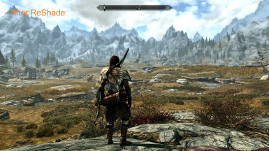 ReShade Preset HDR And Optionally Original Skyrim Look At