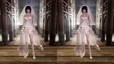 Haku Wedding Dress - UNP - From MMD to Skyrim