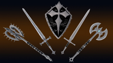 Dark Crusader Weapons