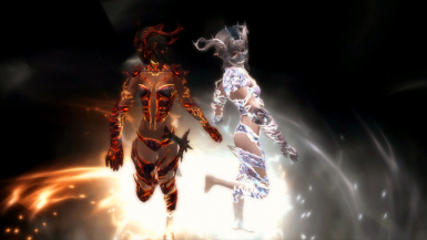 Flame Dancer and Snow Dancer