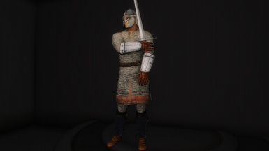 32 - Hauberk - Splinted Bracers and Greaves - Heavy Helmet - Longsword