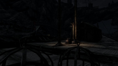 Solitude Docks at night