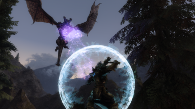 Wraithguard barrier reflecting a dragon's shout