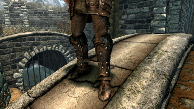 Leather armor with pants for male character