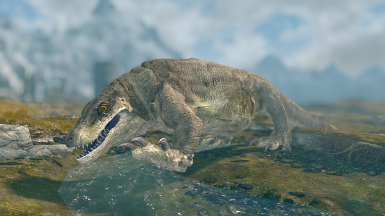 Megalania- Mihail Monsters and Animals (SSE)(mihail immersive add-ons - lizard- megafauna reptile)