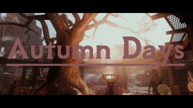 Autumn Days Cover
