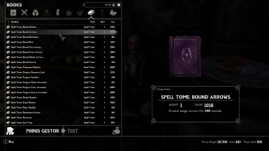 Bound Arrows Spell Tome