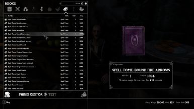 Bound Fire Arrows Spell Tome