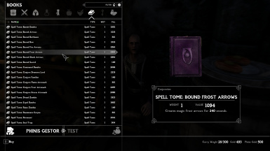 Bound Frost Arrows Spell Tome