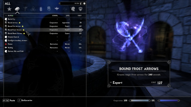 Bound Frost Arrows Spell