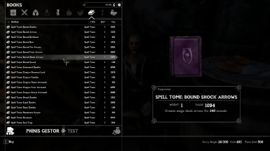 Bound Shock Arrows Spell Tome