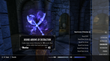 Bound Arrows of Distraction Spell