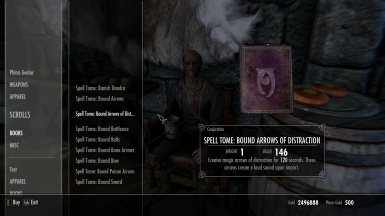 Bound Arrows of Distraction Spell Tome