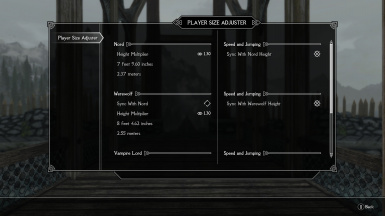 Player Size Adjuster and First Person Camera Height Fix SSE