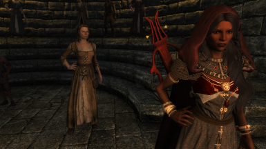 Redguard Bard (Gold Gown)