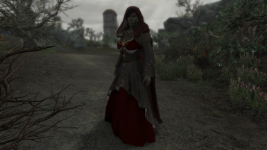 Gold gown on female orc