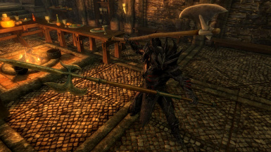 Imperial Halberds and Polearms- Mihail Weapons and Shields (SSE)(mihail immersive add-ons- cyrodiil)