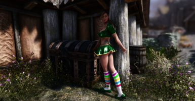 Les Sucettes Outfit CBBE Bodyslide with Physics at Skyrim